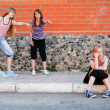 Foto Stock: Conflict between friends