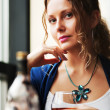 Royalty-Free Stock Photo: Young woman with a cognac