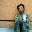 Homeless man in depression — Stock Photo