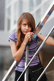 Teenage girl looking away — Stock Photo
