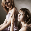 Two young beautiful women — Stock Photo