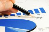 Análisis de gráficos de bolsa — Foto de Stock