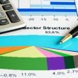 Stock market sectore structure — Stock Photo