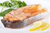 Salmon grill — Stock Photo
