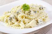 Pasta in cream sauce — Stock Photo