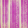 Pink and Cream Floral Wood Carved Stripes — Stock Photo