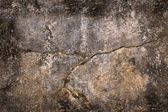 Grunge Wall with Horizontal Crack and Natural Frame — Stock Photo