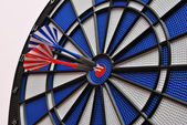 Darts on dartboard — Stock Photo