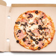 Pizza in box — Stock Photo