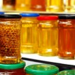 Honey jars — Stock Photo