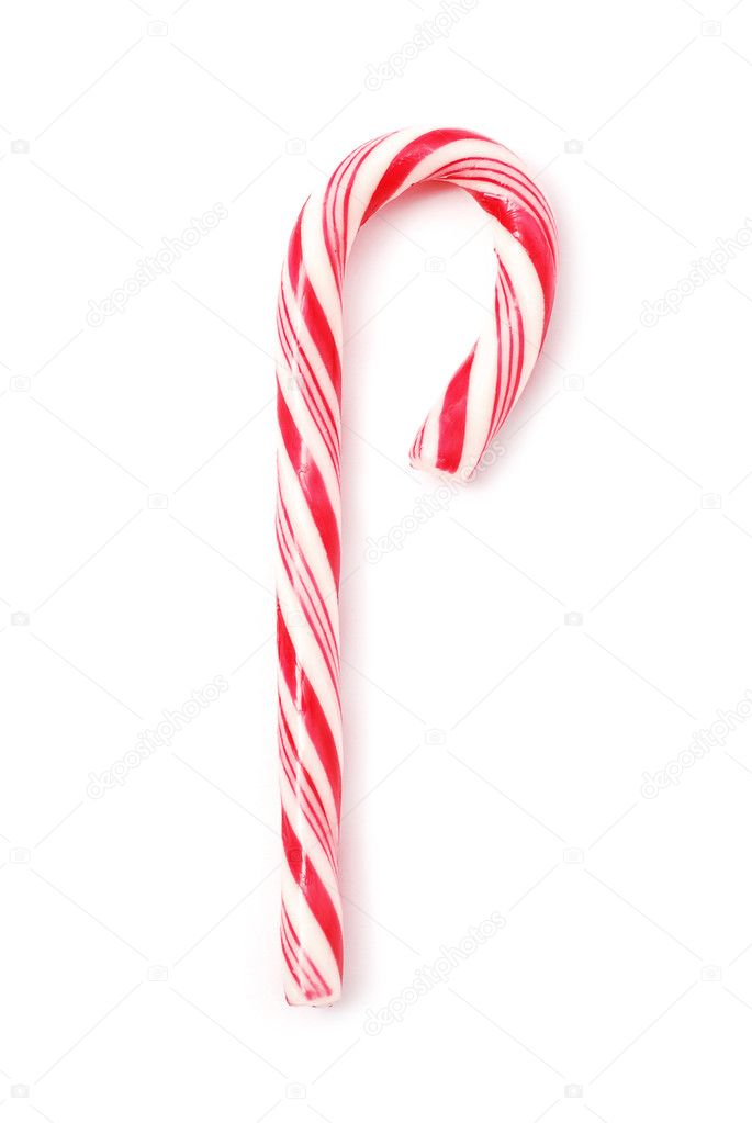 Candy cane on white background  Stock Photo #9113891