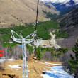 Wonderful view of the cableway in the mountains. — Foto de Stock