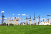 The Substation and Power Transmission Lines. Panorama — Stock Photo