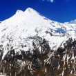 Beautiful view of mountaint Elbrus - highest peak of Europe - Zdjęcie stockowe