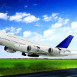 Royalty-Free Stock Photo: Modern airplane  in  Airport. Take off on runway.