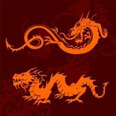 Chinese Dragons Set — Stockvector