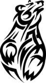 Plemiennych grizzly bear - wektor winyl gotowy ilustracja! — Wektor stockowy