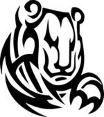 Tribal grizzly bear - vinyl-ready vector illustration! — Stock Vector