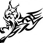 Lynx in tribal style - vector illustration — Stock Vector