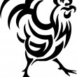 Cock in tribal style - vector illustration — Stock Vector