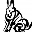 Hare in tribal style - vector illustration — Imagen vectorial