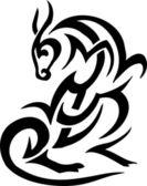 Animal em estilo tribal - ilustração vetorial — Vetorial Stock