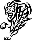 Leão em estilo tribal - ilustração vetorial — Vetor de Stock
