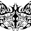 Bull in tribal style - vector image. — Stock vektor