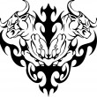 Stock vektor: Bull in tribal style - vector image.