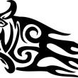 Bull in tribal style - vector image. — Grafika wektorowa