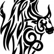 Bull in tribal style - vector image. - Stock Vector
