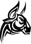 Bull en style tribal - image vectorielle. — Vecteur