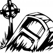 Grave - Halloween Set - vector illustration — Imagen vectorial