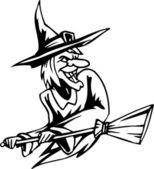 Witch - Halloween Set - vector illustration — Stock Vector