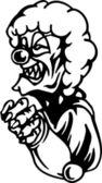 Evil clown - Halloween Set - vector illustration — Stock Vector