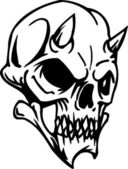 Illustrazione vettoriale cranio - set di halloween — Vettoriale Stock