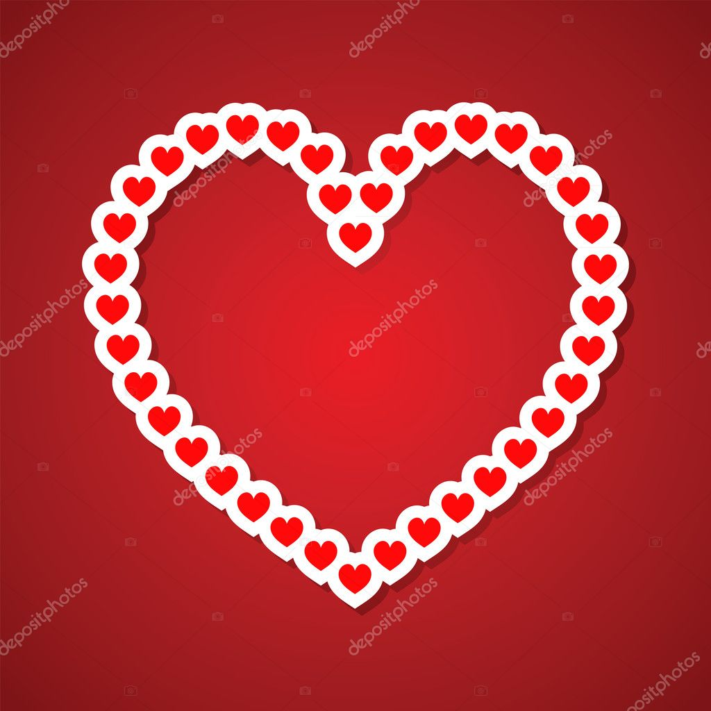 Valentine's day vector background with abstract hearts — Stock Vector #8375390