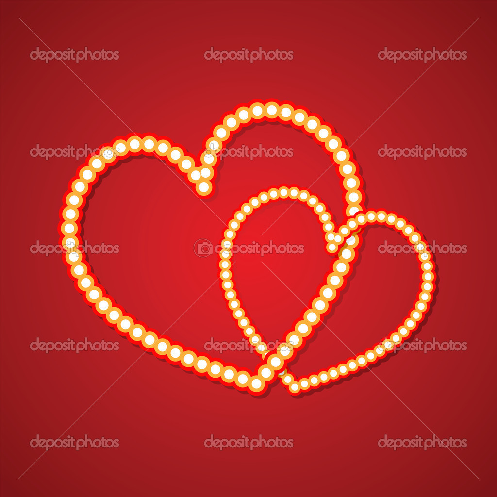Valentine's day vector background with abstract hearts — Stock Vector #8377471