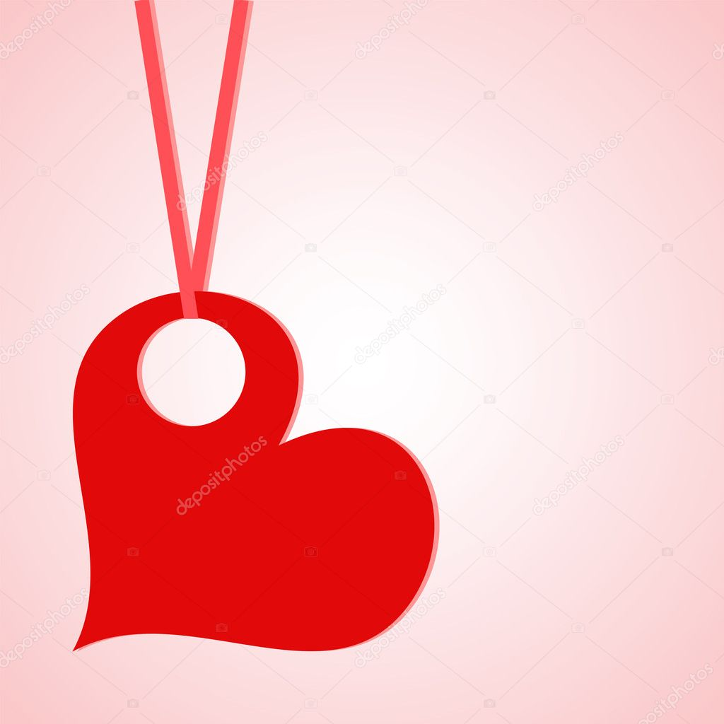Vector valentine background with heart — Imagens vectoriais em stock #8384794