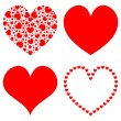 Vector de stock : Hearts