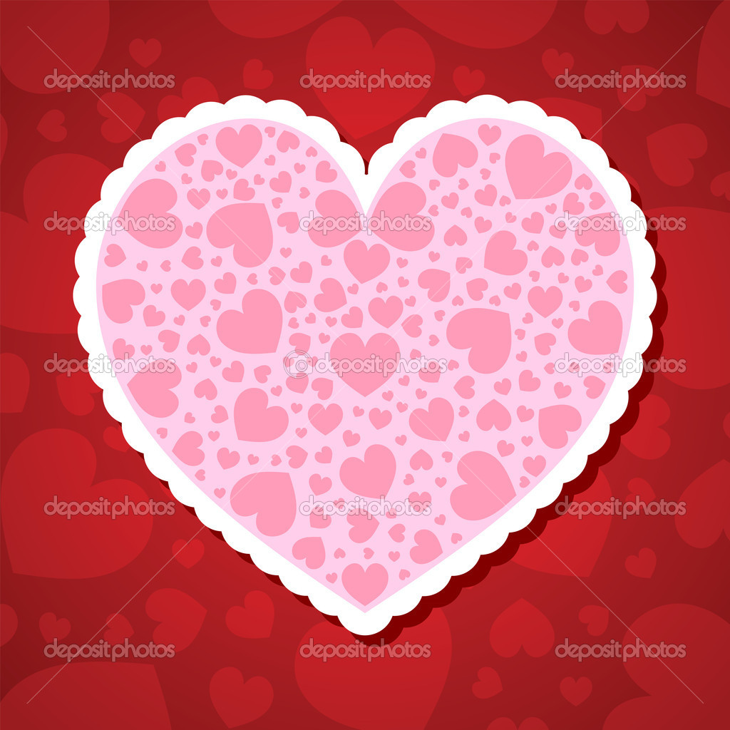 Valentine's day vector background with abstract hearts — Stock Vector #8404189