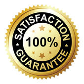 Satisfaction guarantee — Stock Vector