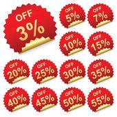 Discount labels — Stock Vector