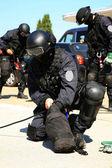 Dělení protiteroristické policie — Stock fotografie