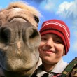 Stock Photo: Boy and horse