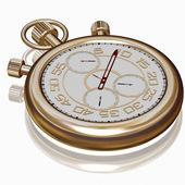 Gold sport Stopwatch on white — Stock Photo