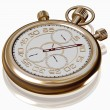 Stock Photo: Gold sport Stopwatch on white
