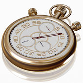 Gold sport Stopwatch on white — Stock Photo