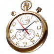 Gold old clock on white — Stock Photo #9190777