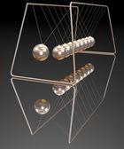 Gold newton balls — Stock Photo